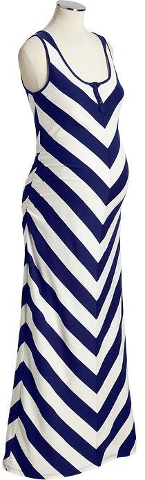 Maternity Chevron-Striped Maxi Tank Dress Old Navy