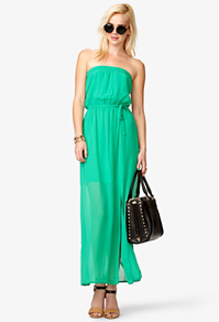 Semi-Sheer Maxi Tube Dress Forever 21